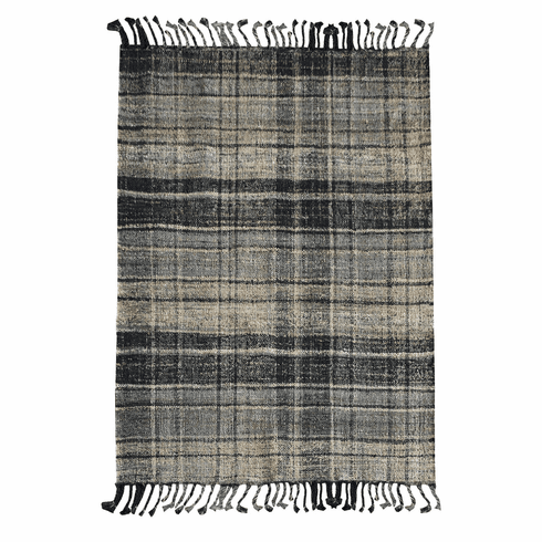 Emmett Plaid Rug charcoal