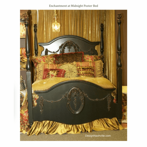 Enchantment at Midnight Poster Bed and silk bedding
