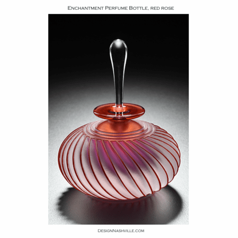 Enchantment Perfume Bottle, red rose