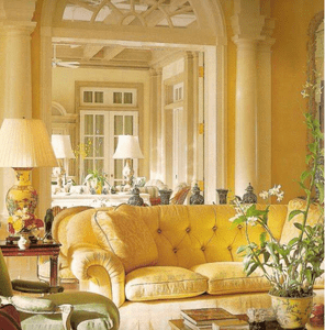 English Yellow Rooms and furnishings