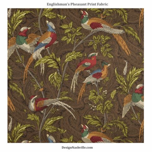 Englishman's Pheasant Fabric, brown