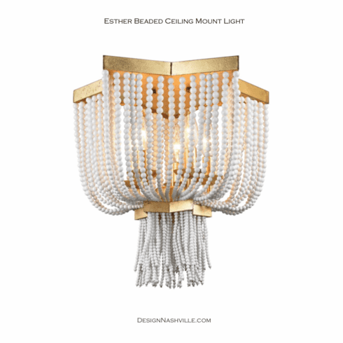 Esther Beaded Ceiling Mount Light