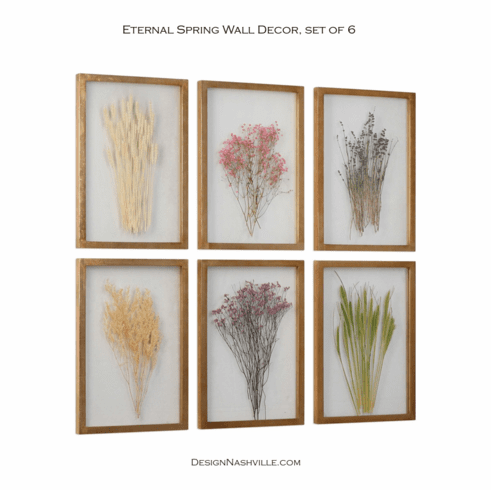 Eternal Spring Wall Decor, set of 6