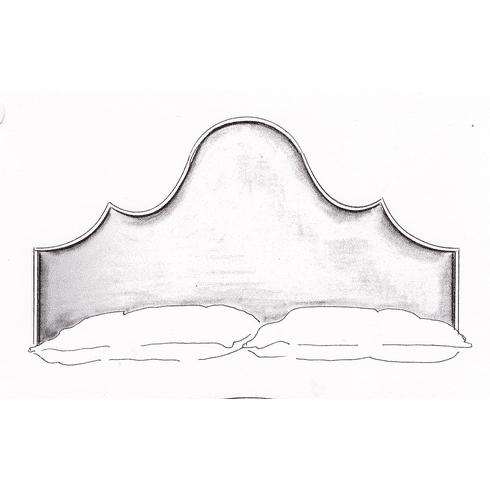 European Scallop headboard