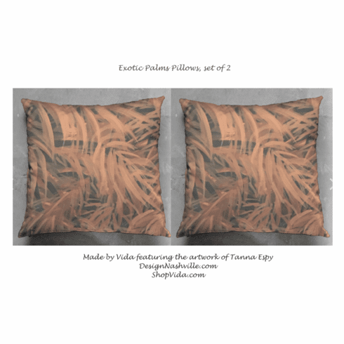 Exotic Palms Pillows set of 2