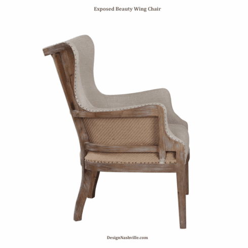 Exposed Beauty Wing Chair