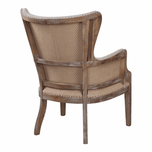 Exposed Beauty Wing Chair back view