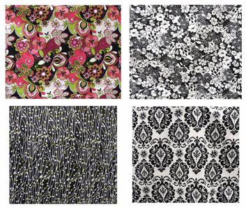 Fabrics available for Teen Girl's Bedding