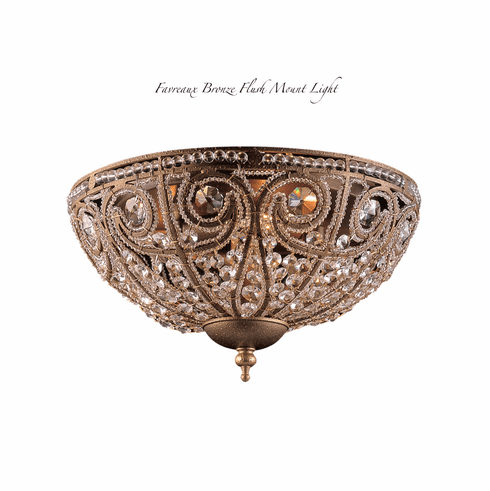 Favreaux Bronze Flush Mount Light