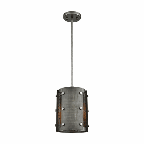 Fenway Ash Grey Wood Pendant Light