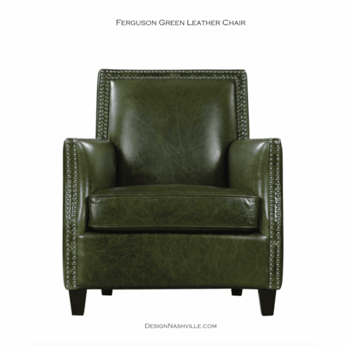 Ferguson Green Leather Chair