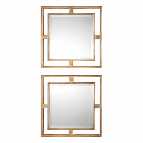 Fifth Floor Square Mirrors, set of 2