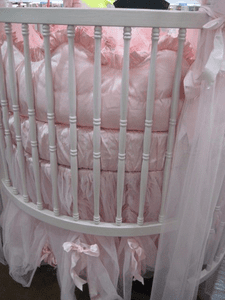 Detail Photo of Story Book Dreams Round Crib, Bedding
