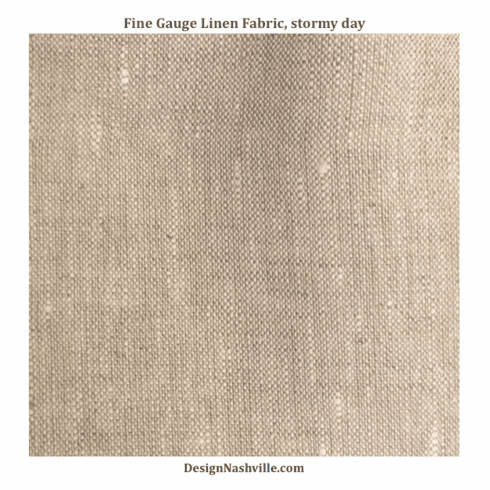 Fine Gauge Linen Fabric, stormy day