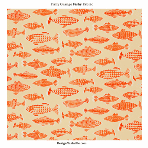 Fishy Orange Fishy Fabric