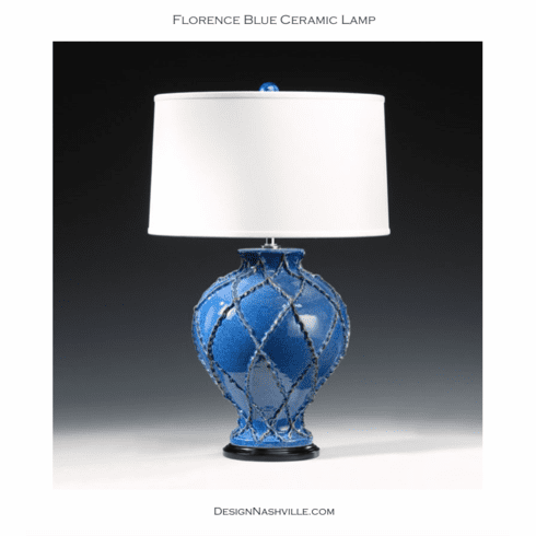 Florence Blue Ceramic Lamp