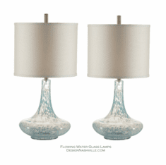 Flowing Water Glass Lamps set of 2