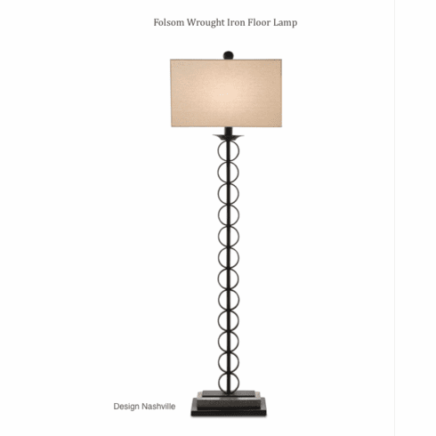 Folsom Wrought Iron Floor Lamp