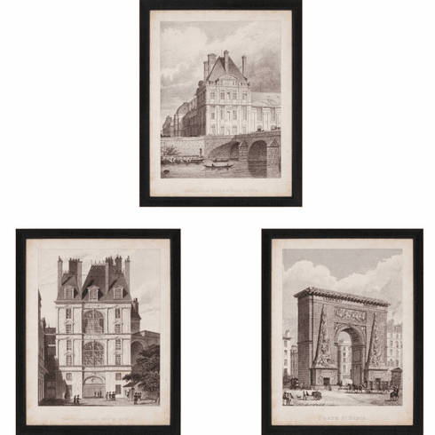 French Architectural Landmarks I, set of 3