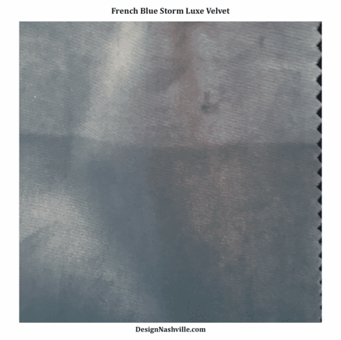 French Blue Storm Luxe Velvet Fabric SWATCH