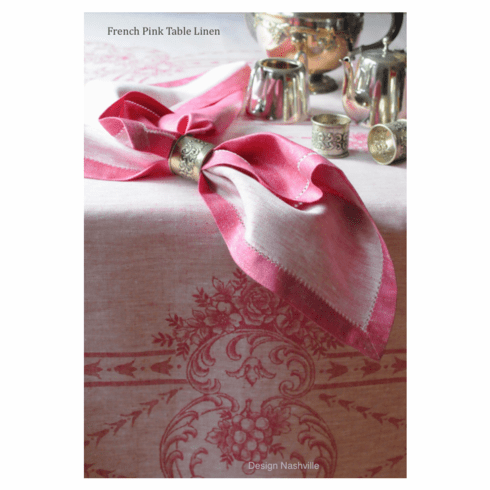 French Pink Linen Napkins, set of 8