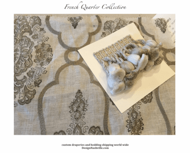 French Quarter Custom Drapery and Bedding Collection