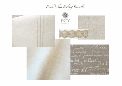 French White Drapery and Bedding Collection