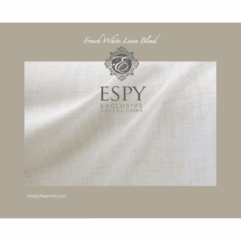 French White Linen Blend Fabric