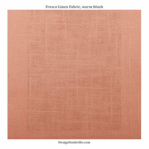 Fresco Linen Fabric, warm blush