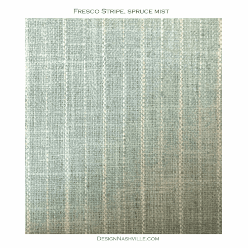 Fresco Stripe Fabric, spruce mist