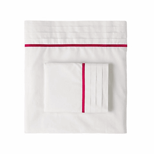 Fuchsia Satin Edge Sheet Set