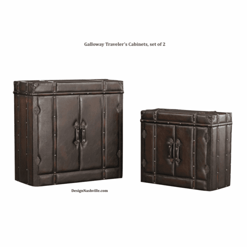 Galloway Traveler's Cabinets, set of 2