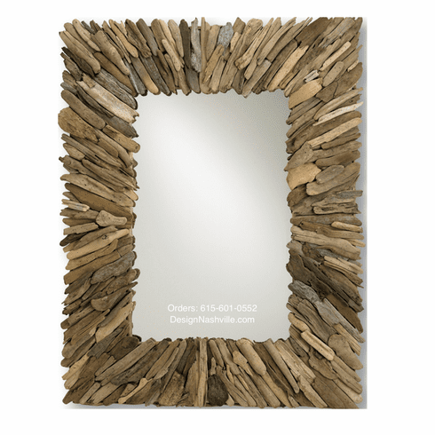 Genesis Bay Driftwood Mirror, <br>rectangle 50""