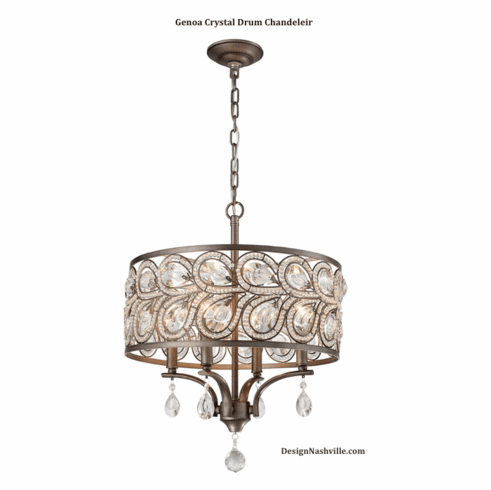 Genoa Crystal Drum Chandelier