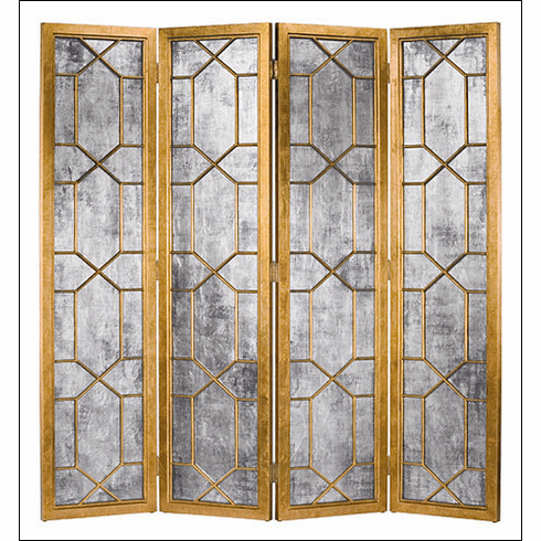 Geometric Classic Antique Mirrored <br>Screen