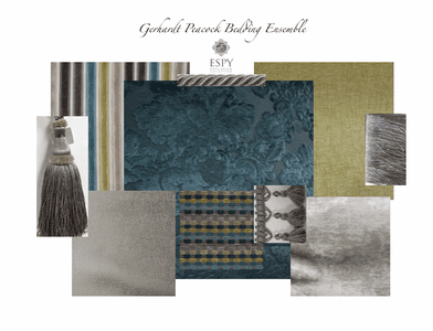 Gerhardt Peacock Chenille Bedding and Drapery Collection