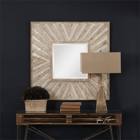 Gideon Starburst Square Mirror