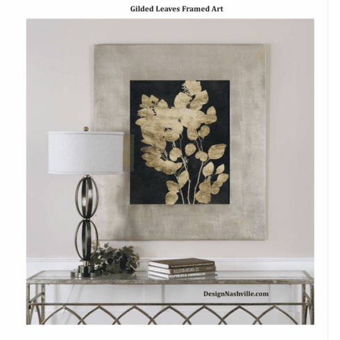 Gilded Leaves Framed Art