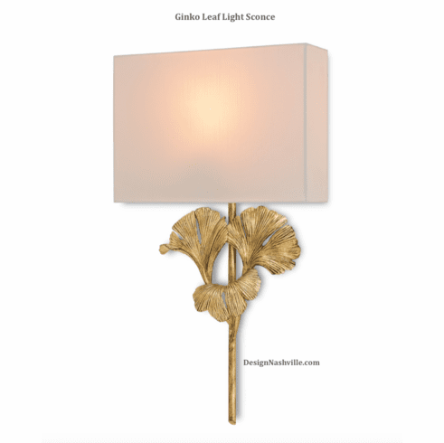 Ginko Leaf Light Sconce