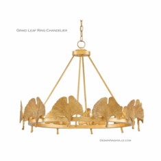 Ginko Leaf Ring Chandelier