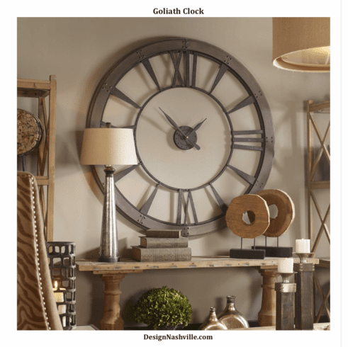 "Goliath Wall Clock 60"" and 40"""