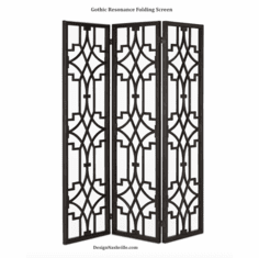 Gothic Resonance Folding Screen