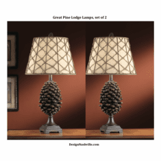 Great Pine Lodge Lamps. set of 2