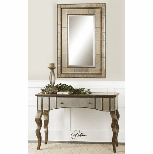 Guggenheim Mirrored Console Table