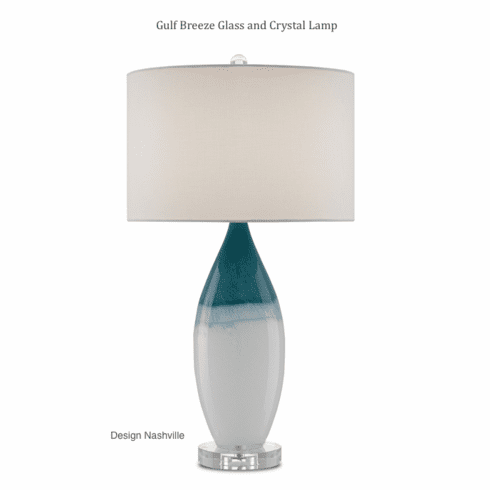 Gulf Breeze Glass Lamp