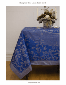 Hampton Blue Linen Table Cloth