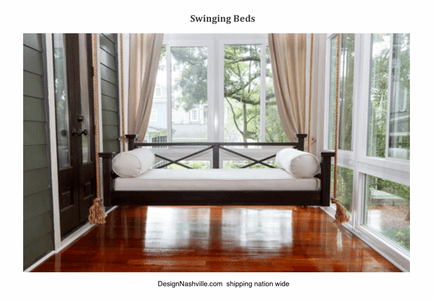 Custom Crafted Hanging Beds (porch swing), mattresses, and cushions DesignNashville