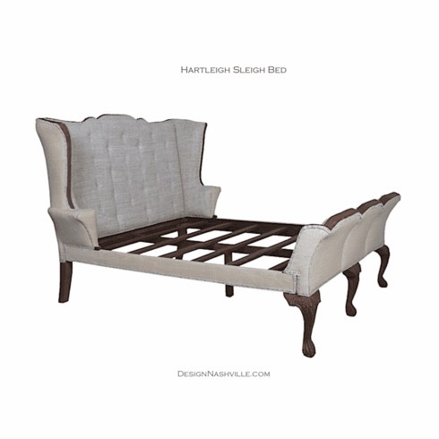 Hartleigh Upholstered Sleigh Bed