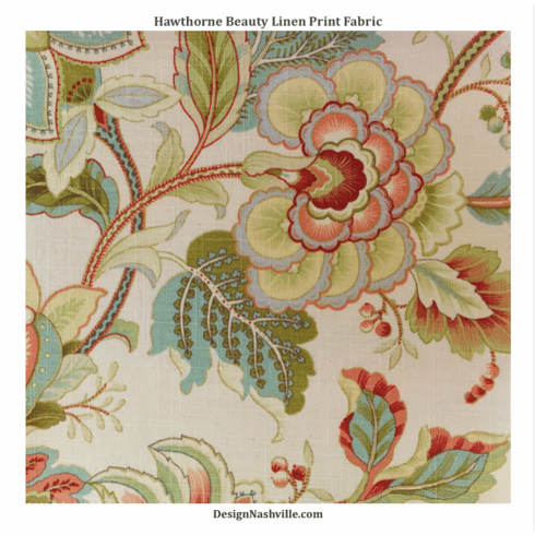 Hawthorne Beauty Linen Print Fabric
