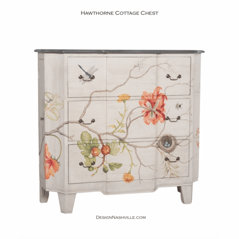 Hawthorne Cottage Painted Chest
